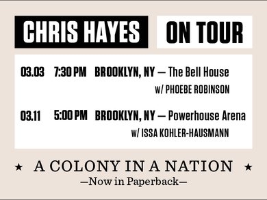 'A Colony in a Nation' book tour dates